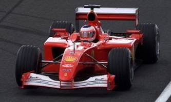 rubens barrichello's ferrari f2001 selling for $3.4 million on dupont registry [video]
