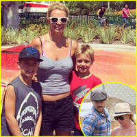 britney spears enjoys magical disneyland day with sean preston & jayden james - see the cute pic!
